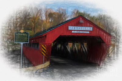 Photograph - Taftsville Covered Bridge by Sharon Seaward