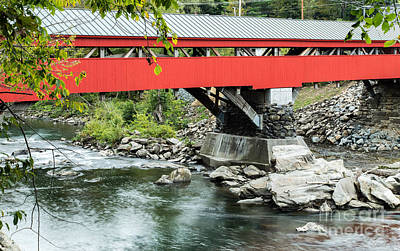 Historic Site Photograph - Taftsville Covered Bridge Vermont by Edward Fielding