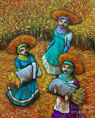 Rice Field Painting - Tag-araw Sa Tag-ulan by Paul Hilario