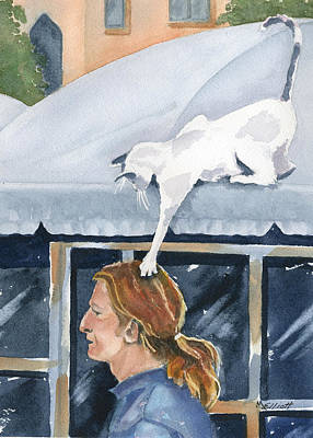 Awnings Painting - Tag You Are It by Marsha Elliott