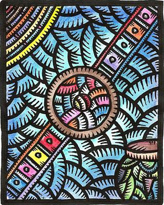 Painting - Tagabanua The Instruments by Marconi Calindas
