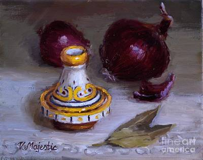Painting - Tagine And Purple Onions by Viktoria K Majestic