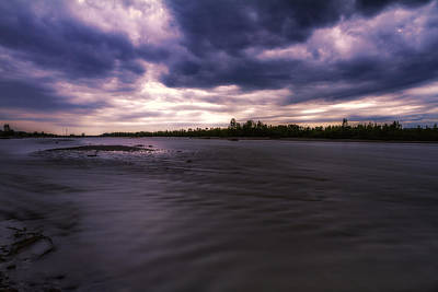 Photograph - Tagliamento River At Dusk by Roberto Pagani