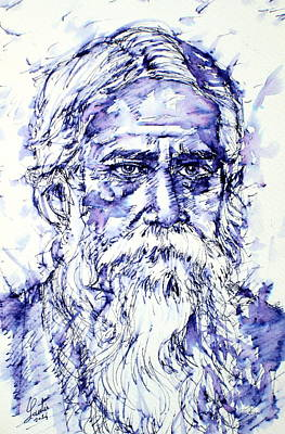Tagore Painting - Tagore Portrait by Fabrizio Cassetta