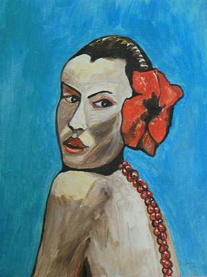 Painting - Tahiti Flower Girl by Esther Newman-Cohen