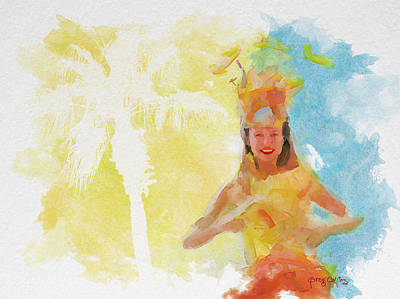 Painting - Tahitian Dancer by Greg Collins