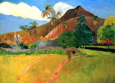 Tahitian Mountains Art Print