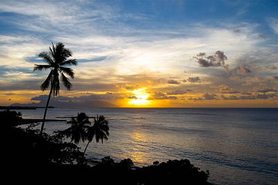 Photograph - Tahitian Sunset by Denise Mazzocco