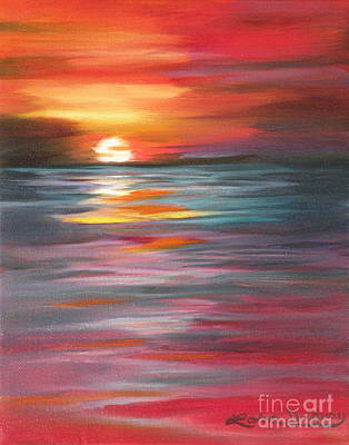 Tahitian Sunset Art Print