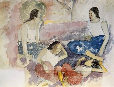 Drawing - Tahitian Women, From Noa Noa, Voyage by Paul Gauguin