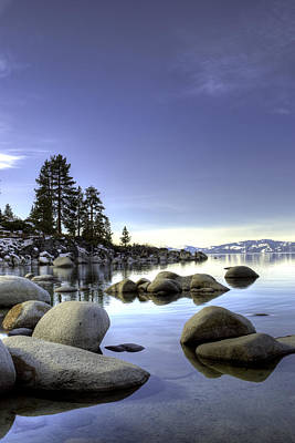 Photograph - Tahoe Blue Winter Sand Harbor by William Havle
