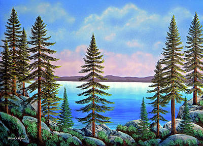 Painting - Tahoe Pines by Frank Wilson