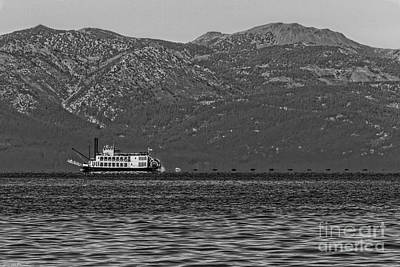 Transportion Photograph - Tahoe Queen Black And White by Mitch Shindelbower
