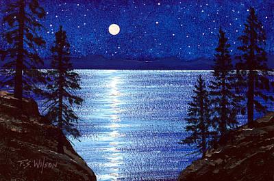 Painting - Tahoe Stars by Frank Wilson