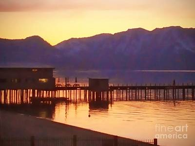 Photograph - Tahoe Sunset  by Haleh Mahbod