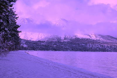 Photograph - Tahoe Twighlight by Tamyra Crossley