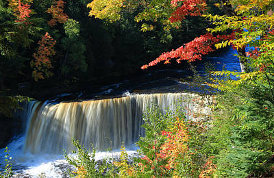 Tahquamenon Falls Autumn Art Print by Rachel Cohen
