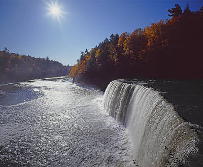 Photograph - 126227-tahquamenon Falls In Autumn by Ed  Cooper Photography