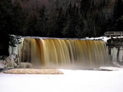 Photograph - Tahquamenon Falls In Early Spring by Matthew Winn