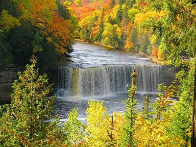 Tahquamenon Falls In October Art Print