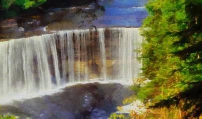 Tahquamenon Falls Painting Art Print