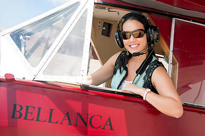 Photograph - Tai In Bellanca With Sunglasses by Dan McManus