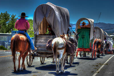 Cattle Drive Photograph - Tail End Of Cattle Drive by Carla E