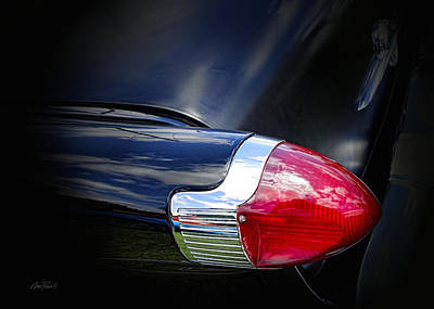 Photograph - Tail Light Classic Car by Ann Powell