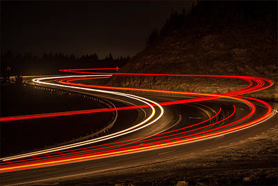 Tail Light Trails Art Print by Joe Hudspeth