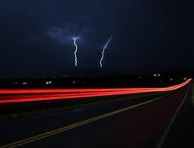 Photograph - Tail Lightning by Trent Mallett