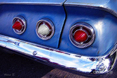 Photograph - Tail Lights And Fenders by Nina Silver