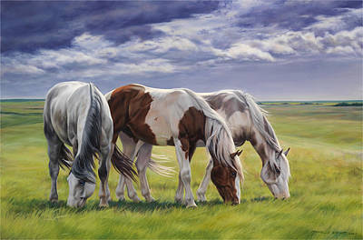 Horse Art Painting - Tail Wind by JQ Licensing
