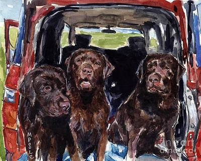Tailgaters Art Print by Molly Poole