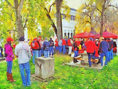 Digital Art - Tailgating Outside Of The Stadium. 2 by Digital Photographic Arts