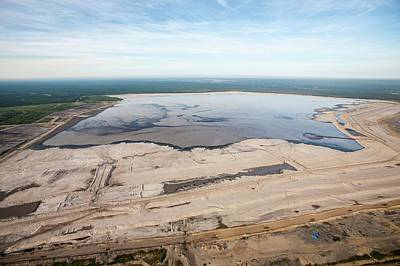 Oil Industry Photograph - Tailings Pond by Ashley Cooper
