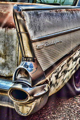 Photograph - Taillight 1957 Chevy Bel Air by Ken Smith