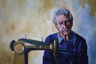 Painting - Tailor From Tel-aviv by Marwan  Khayat