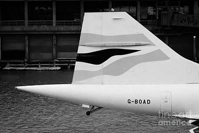 tailplane of the British Airways Concorde  Art Print
