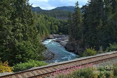 Photograph - Train Tracks By The Cheakamus River by Adam Jewell