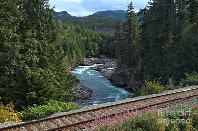 Train Tracks By The Cheakamus River Art Print by Adam Jewell