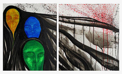 Painting - Tair Diptych  by Sheridan Furrer