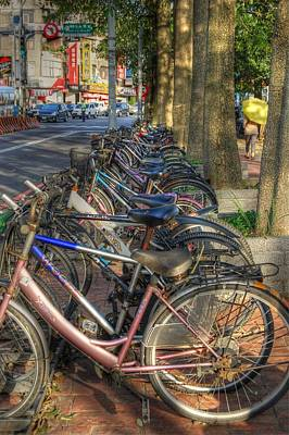 Taiwan Bikes Art Print