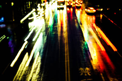Night Photograph - Taiwan Night Movements 3 by Calvin Hanson