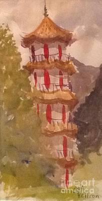 Taiwan Pagoda Original by Gail Heffron