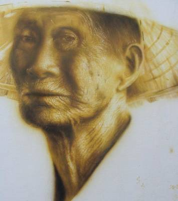Old Chinese Man Painting - Taiwanese Man by Ted Hayward