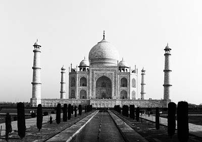 Photograph - Taj Mahal Bw by C H Apperson