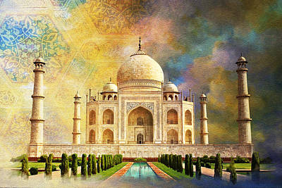 Temple Painting - Taj Mahal by Catf