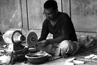 Photograph - Taj Mahal Craftsman - Agra - India by Aidan Moran