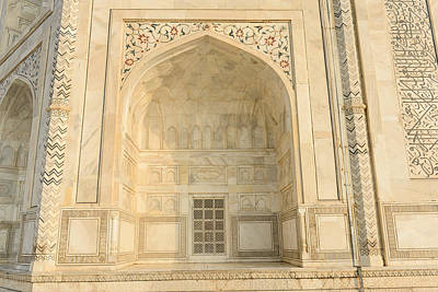 Photograph - Taj Mahal Door by Brandon Bourdages