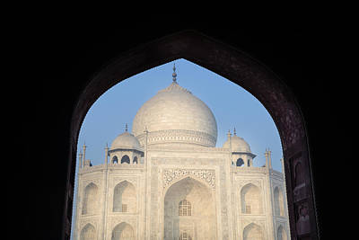 Photograph - Taj Mahal Framed By An Arch by Brandon Bourdages